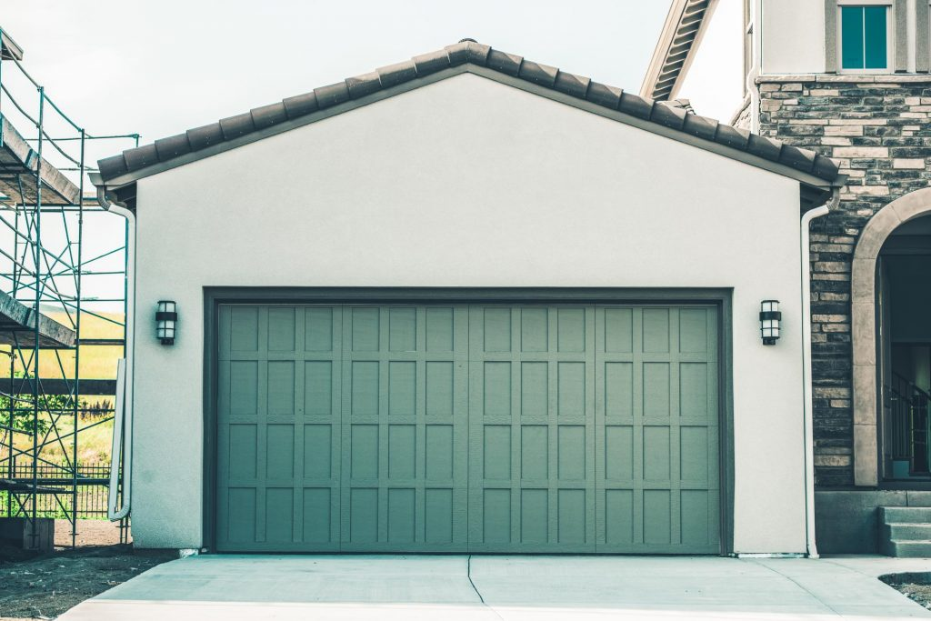 home garage addition completed